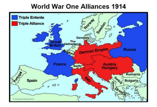 How world war 1 began britain france and russia were fighting against germany austria and italy these were the countries that started the war this is related to nationalism gumiabroncs Image collections