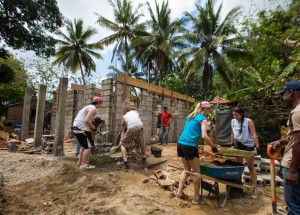Carson Graham students working in the Dominican Republic