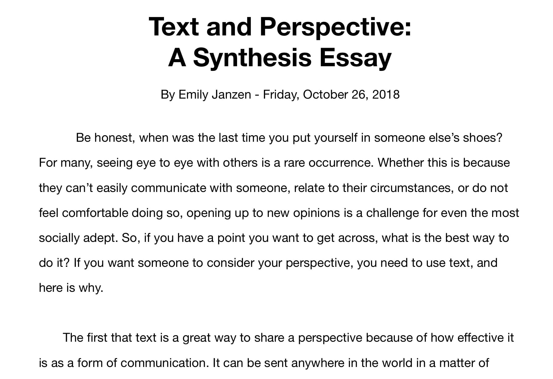 Best way to start an essay about yourself