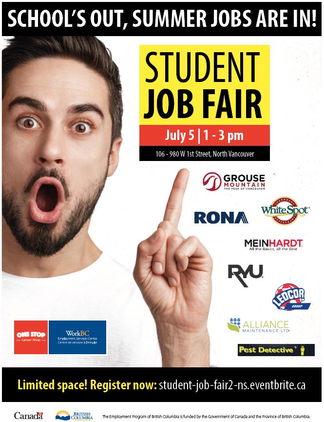 Ywca workbc student job fair on july 5 seycove work experience ywca workbc student job fair on july 5 malvernweather Gallery