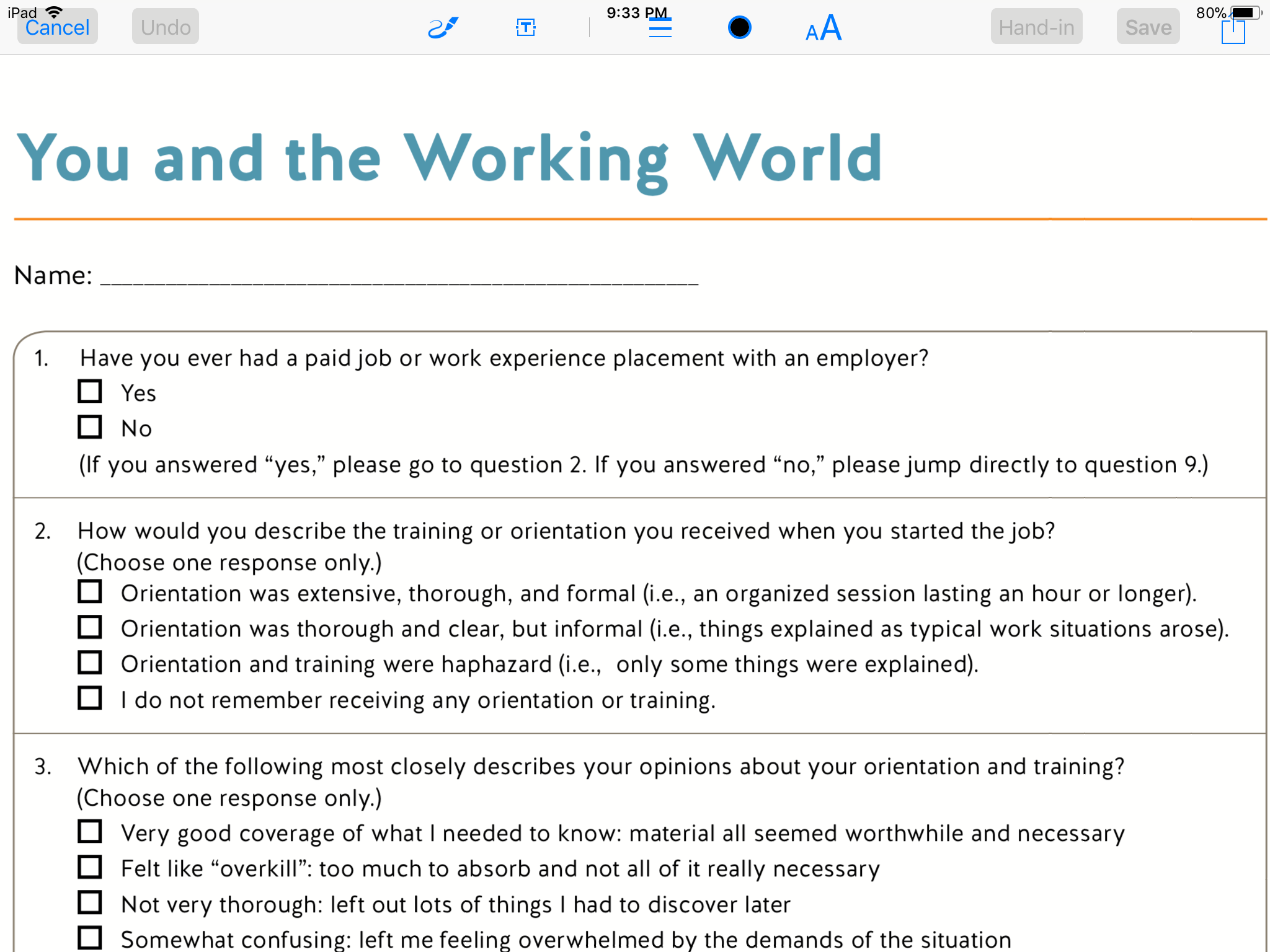 what to do for work experience quiz  firm 1st quiz based aba work hours legal design lab  solved