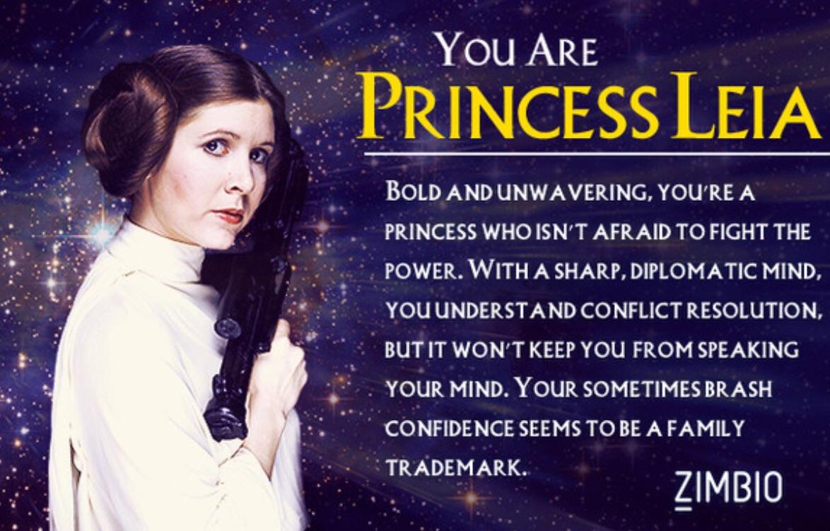 princess leia characteristics