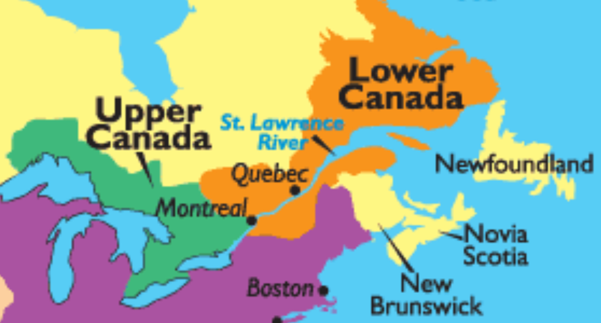 Upper Canada Lower Canada Map Video | Melanie's blog