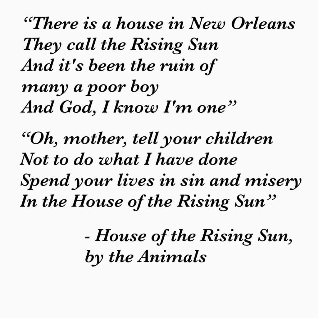 Zettelkasten Connecting Ideas— House of the Rising Sun