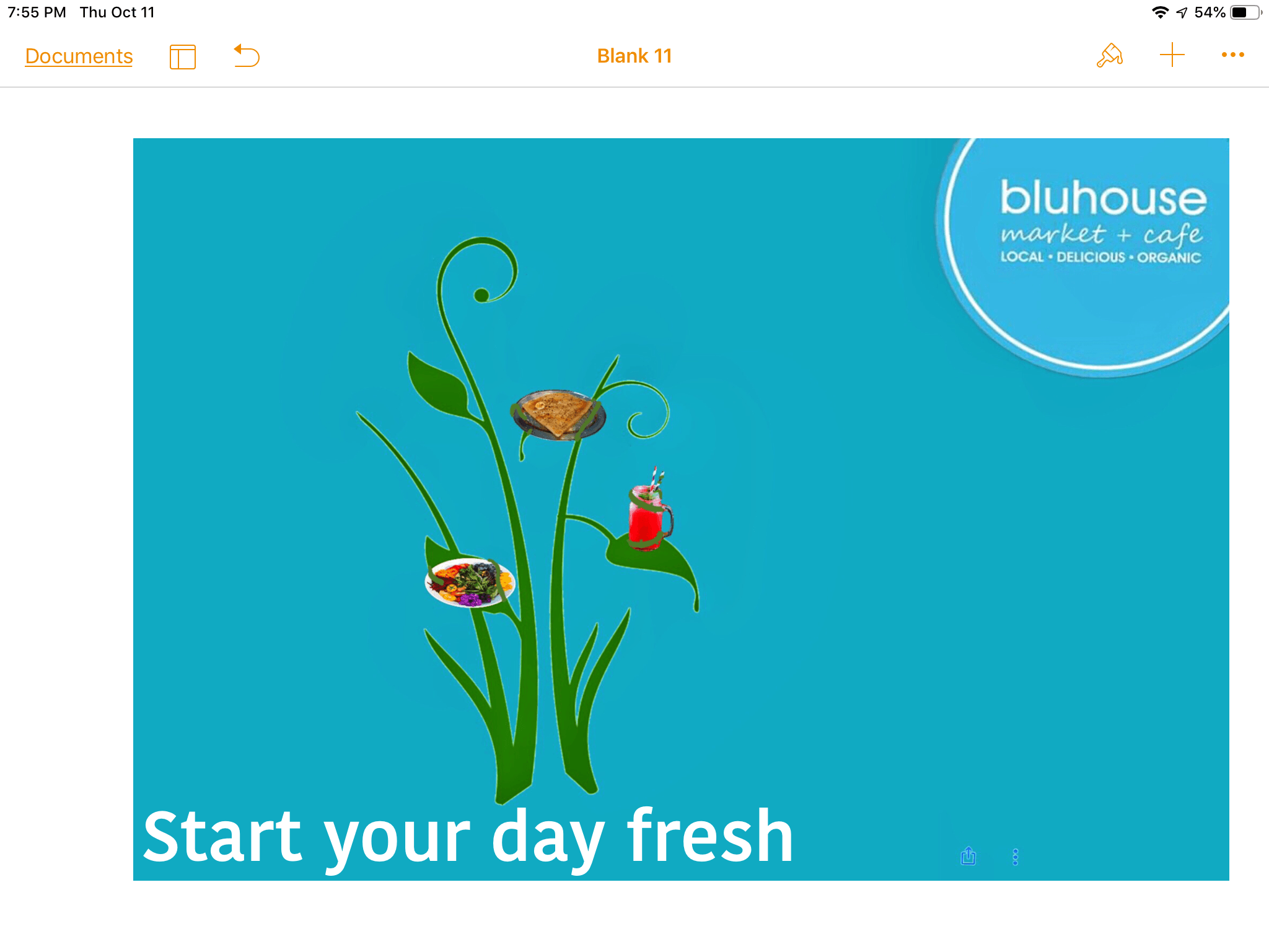 Start your day fresh bluhouse ad