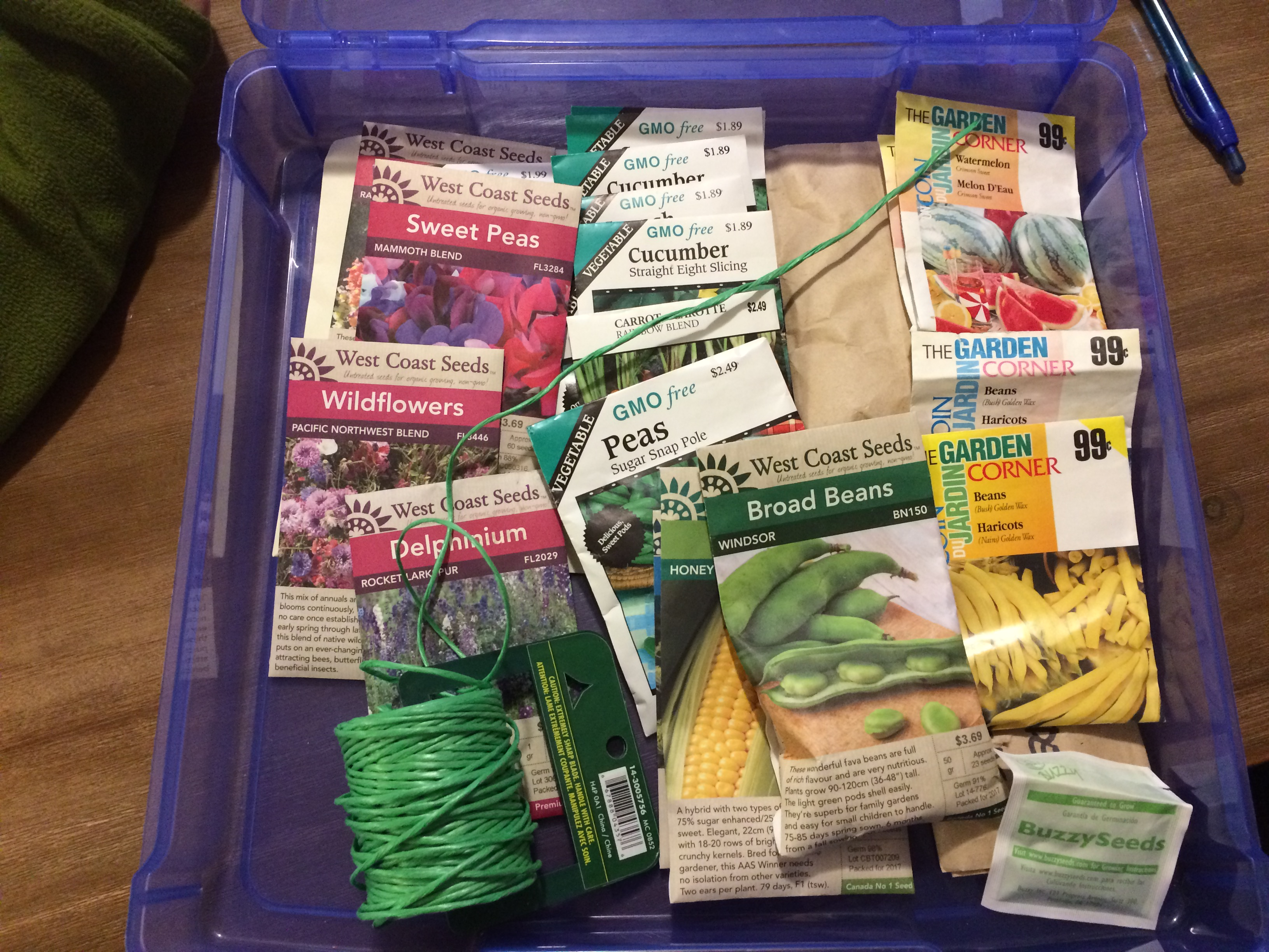 In the spring we will have to plant seedlings that we germinate indoors  during the wintertime. I needed to know exactly what seeds we had, so I  collected ...