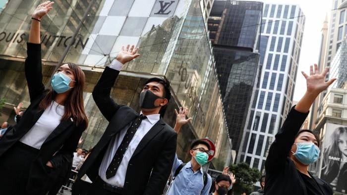 Les manifestations a Hong Kong