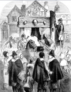 William Prynne in a Pillory for seditious libel Source: Crossroads a Meeting of Nations Pg 135