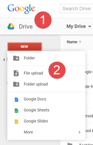 how to up oad a pdf to my google drive