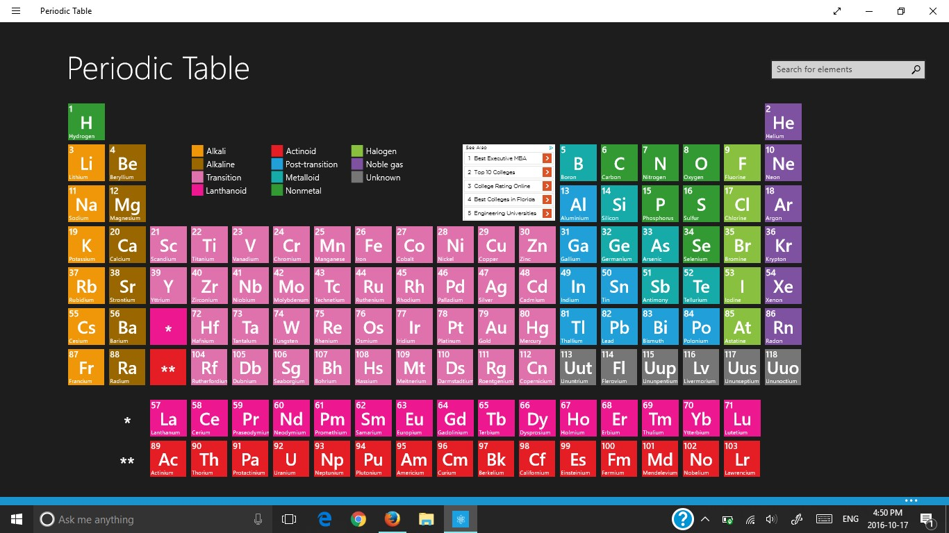 October 2016 aileens blog periodic table app home urtaz Images