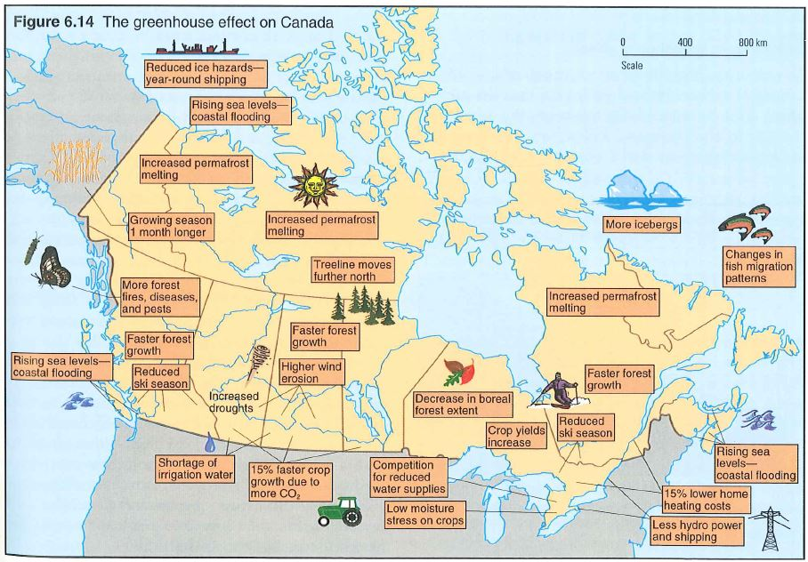 Canada global warming map