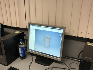 Another group in our class, creating flashlight model before 3D printing