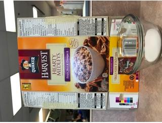 Quantité de sucre dans deux aliments