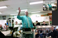 Here is a photo of our second skype chat with New Brunswick
