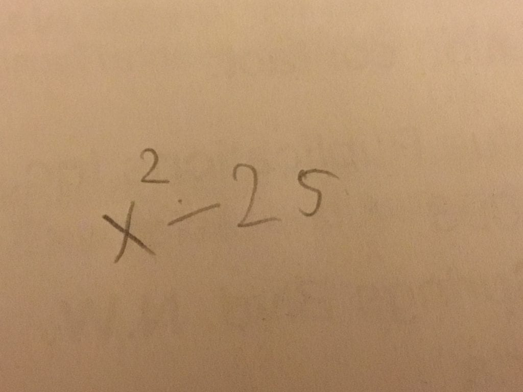 Math 10 Week 7: Difference of squares