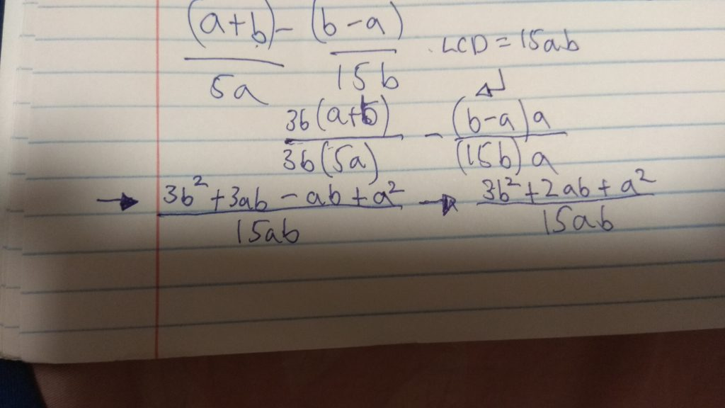 Week 15-Adding and Subtracting Rational Expressions