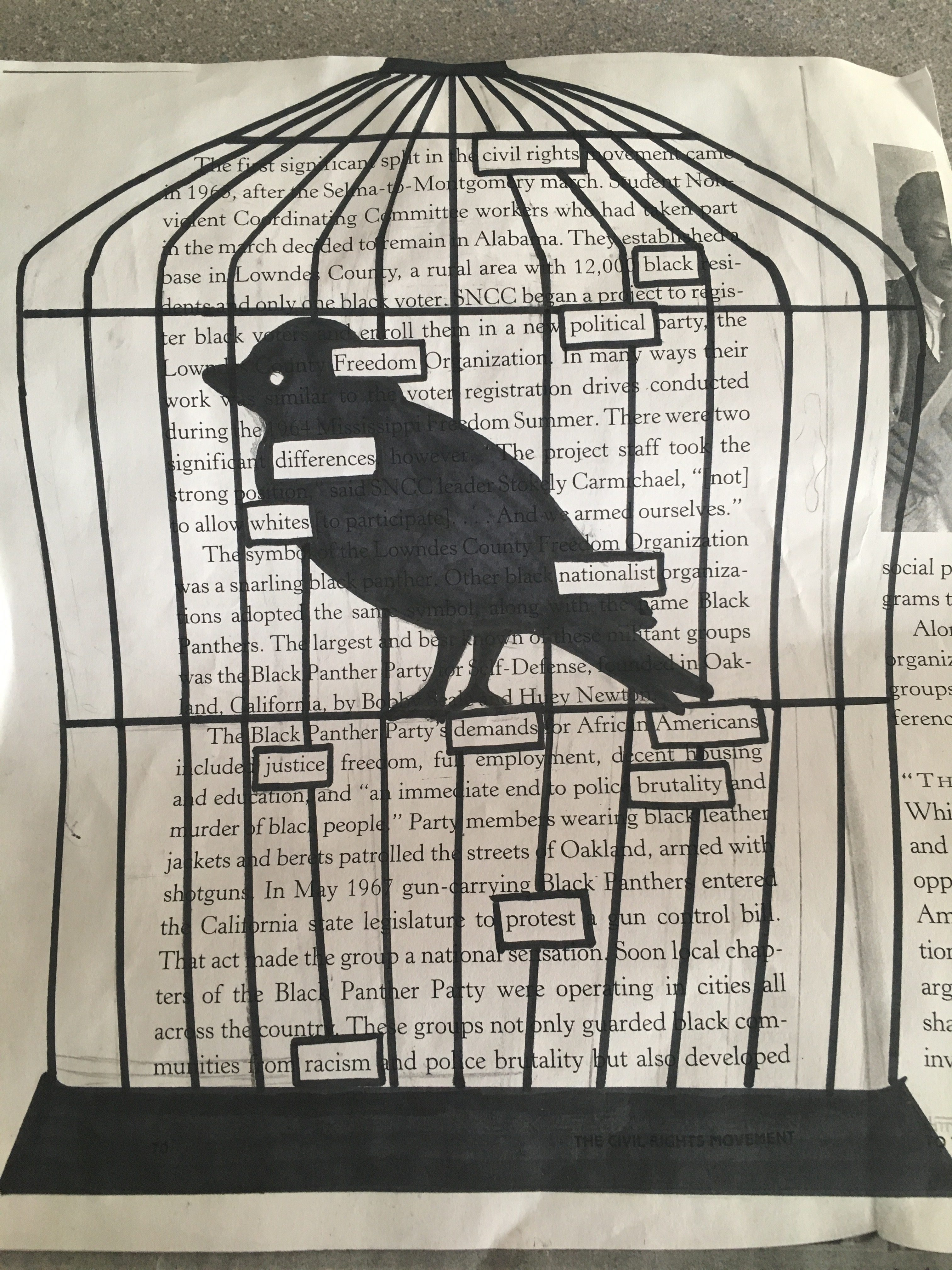 caged bird poem theme