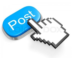 4387265-blue-post-button