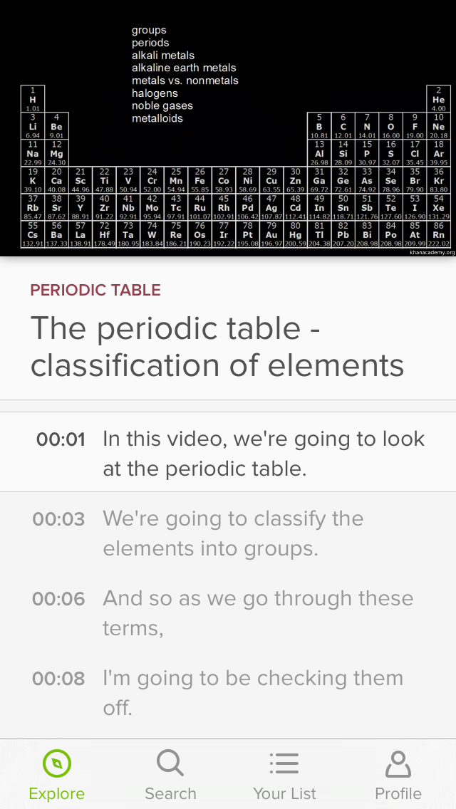 Khan academy science app review toria stewart can khan academy help users understand how the periodic table is organized urtaz Gallery