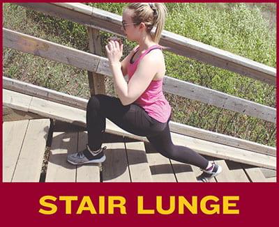 Stair Lunge | MacEwan University Sport and Wellness