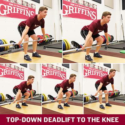 Top-Down Deadlift to Knee