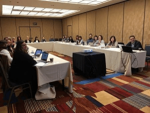 "One output of our ""Complex Sovereignties"" grant was a workshop on ""Indigenous Peoples and Global Politics"", at the International Studies Association annual conference, April 2018, San Fransisco."