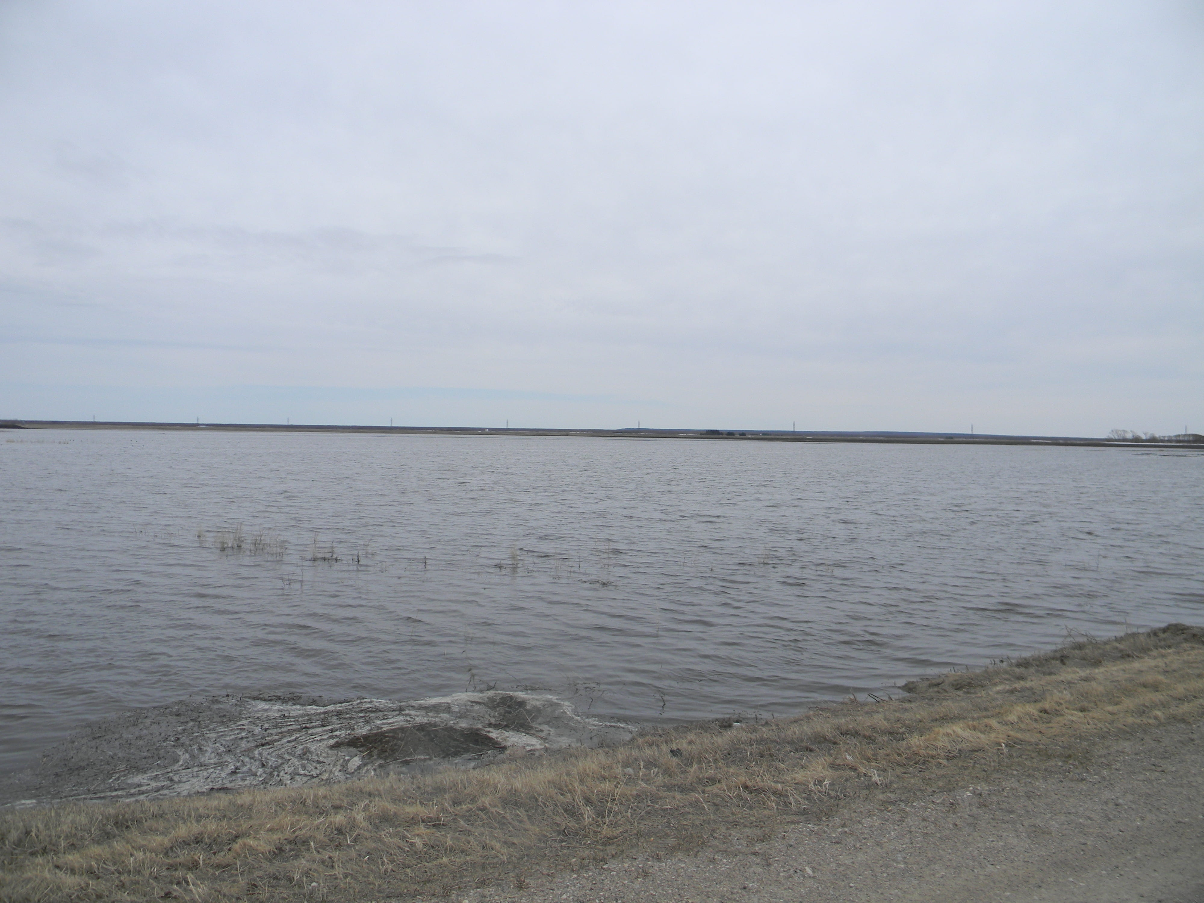 Catfish Creek Watershed, 29 April 2013 - This lake is in fact a farm field