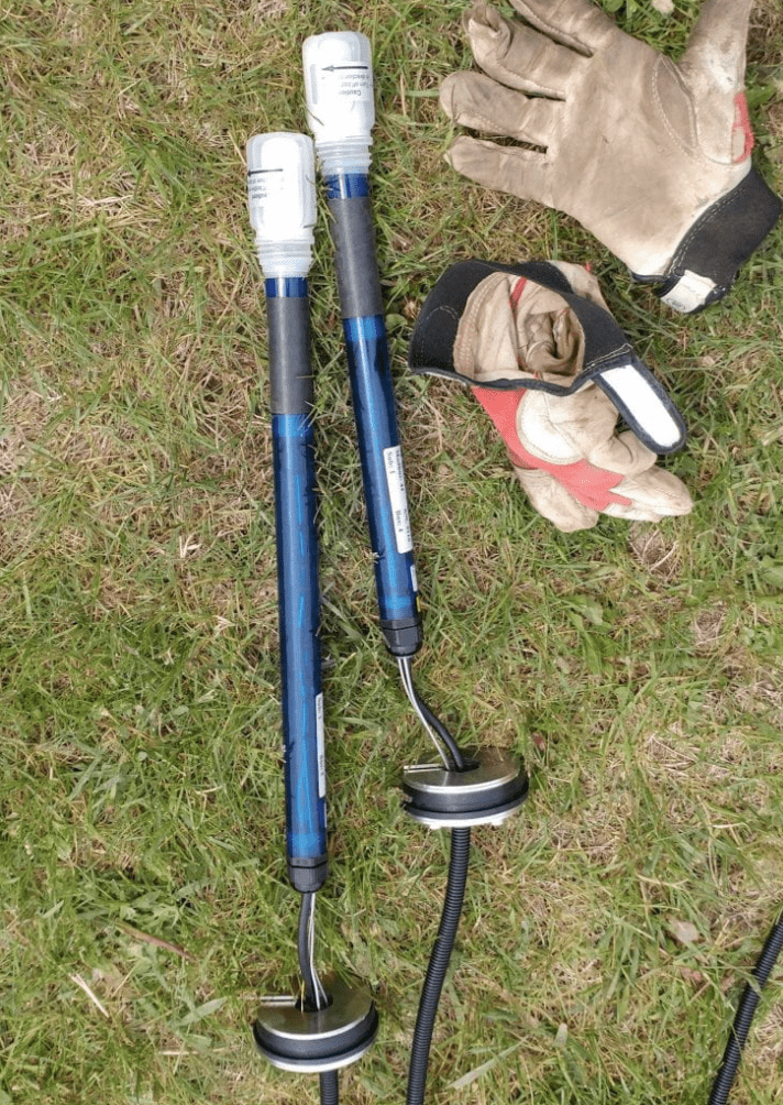 Tensiometers on ground before installation