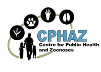 """Image of CPHAZ logo. Image text: """"CPHAZ centre for public health and zoonoses."""""""