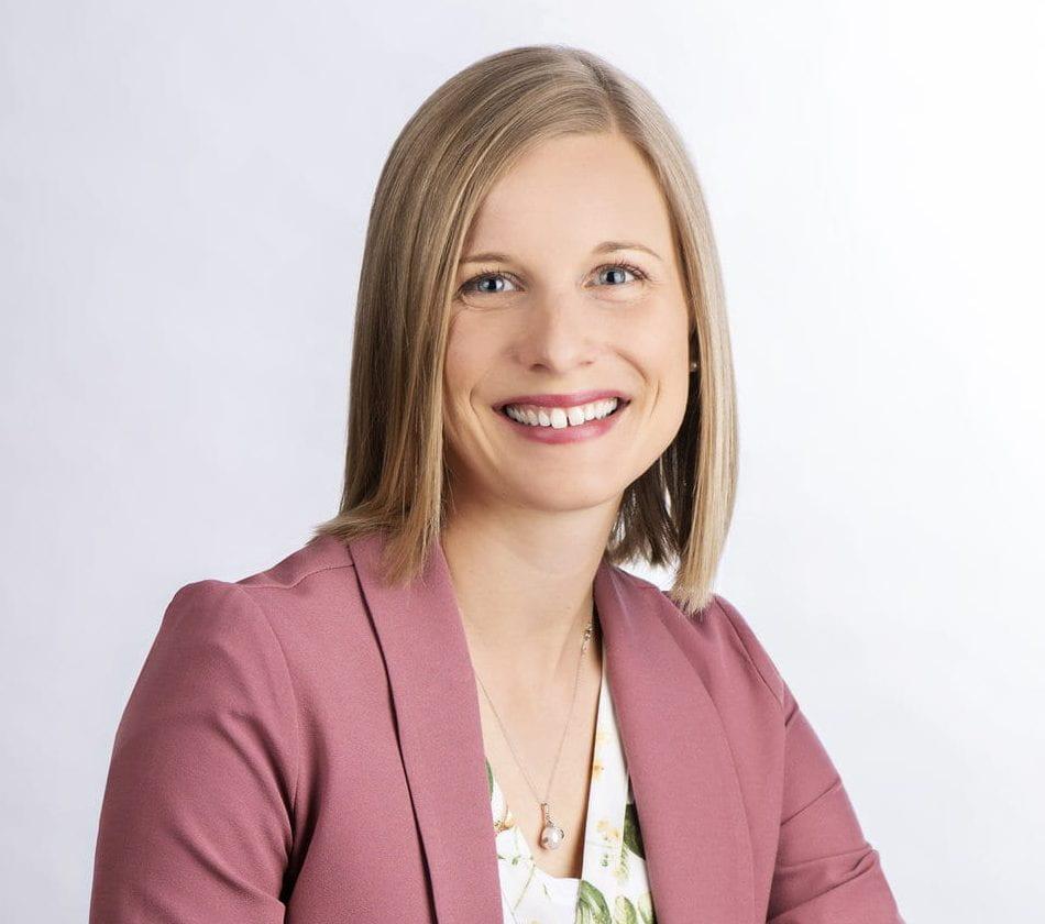Headshot of Prof. Katie Clow.