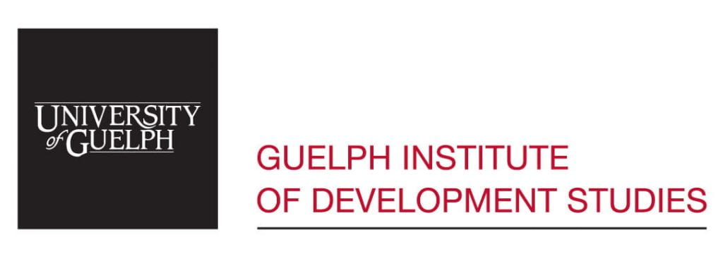 """Image of GIDS logo. Image text: """"Guelph Institute of Development Studies."""""""
