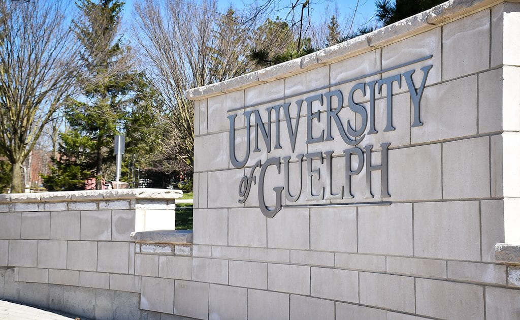Image of University of Guelph sign