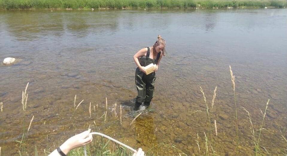 Image of Jamie in water.