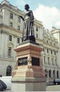 Statue of Nightingale. Located at Waterloo Place, London SW1.