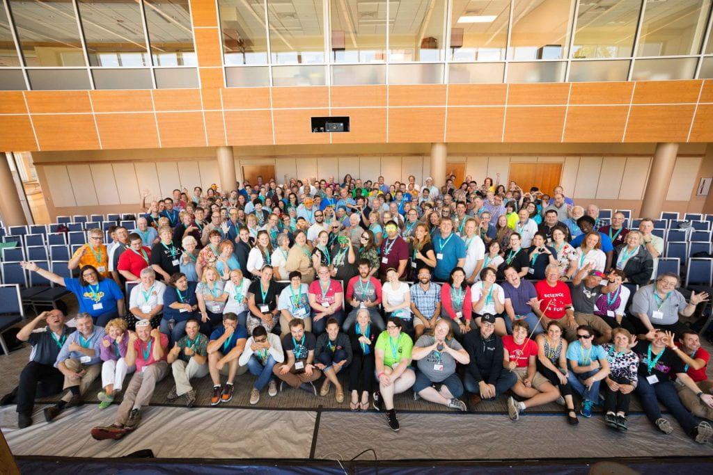 All the ChemEd 2017 attendees -- around 300 people in a photo