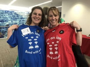 Ariel Serkin and Amy Snyder with ion t-shirts