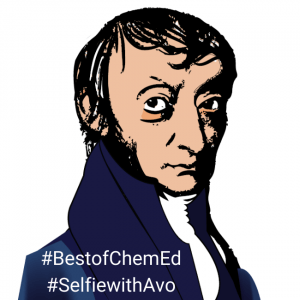 Avogadro headshot with #BestofChemEd and #SelfiewithAvo