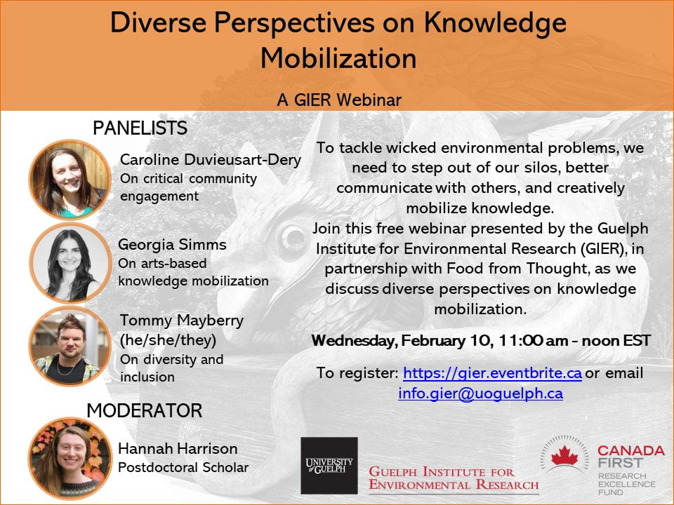 Poster of the event, showing the names and headshots of panelists and moderators, as well as a description of the webinar.