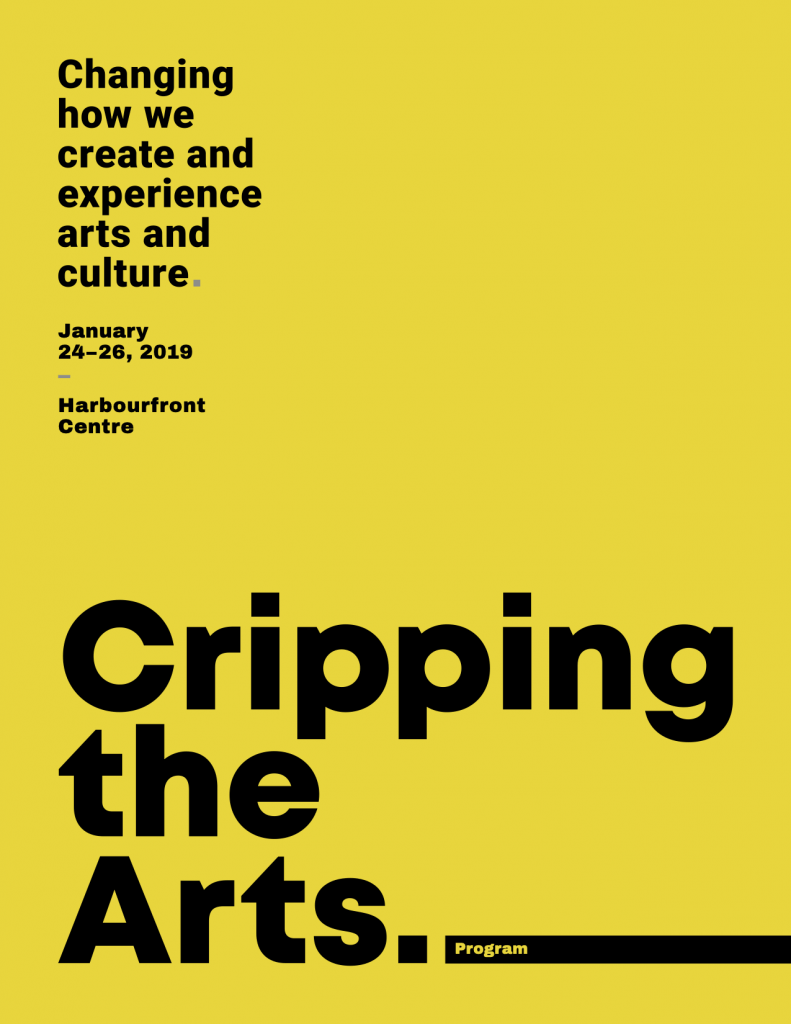 Cripping the Arts program cover