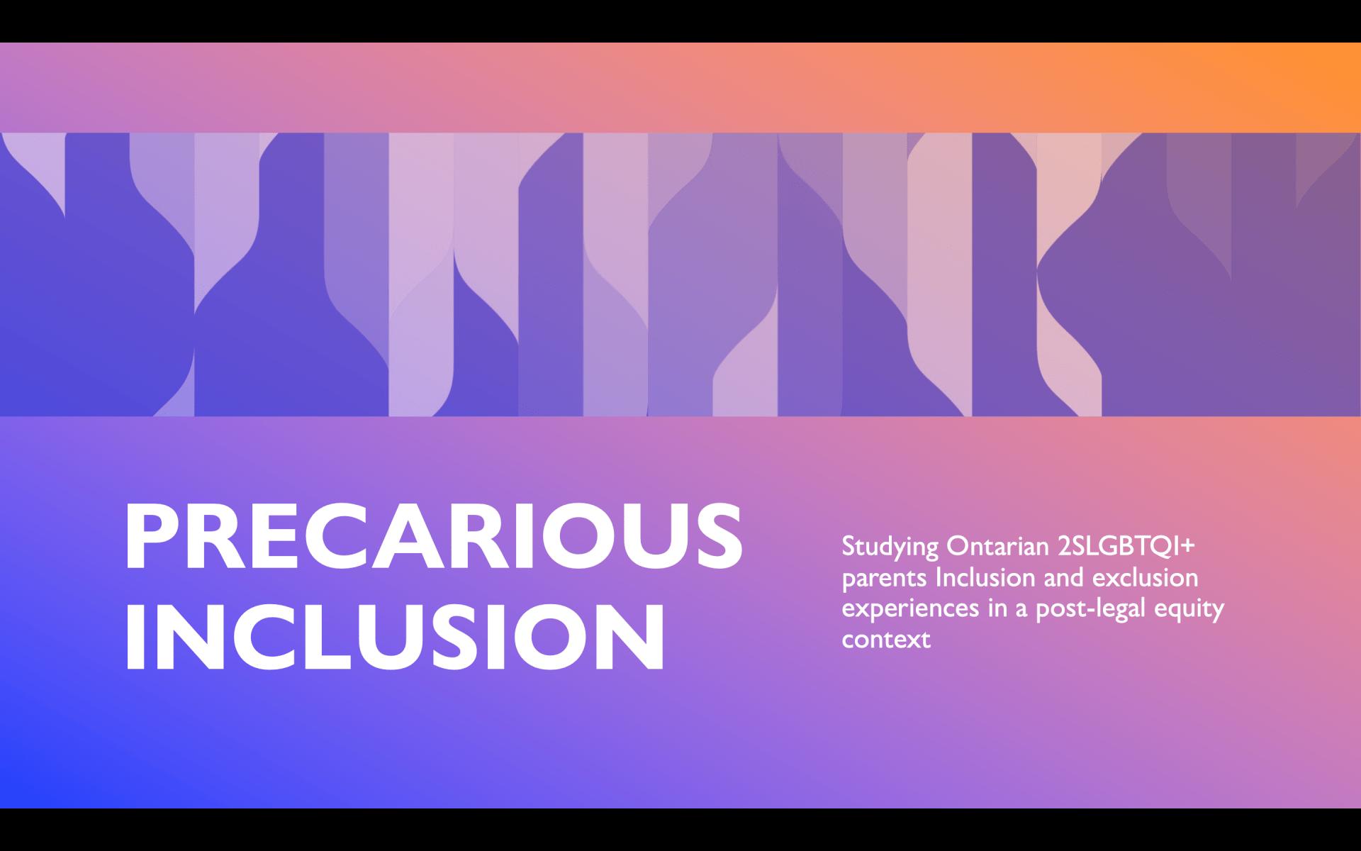 logo of Precarious Inclusion