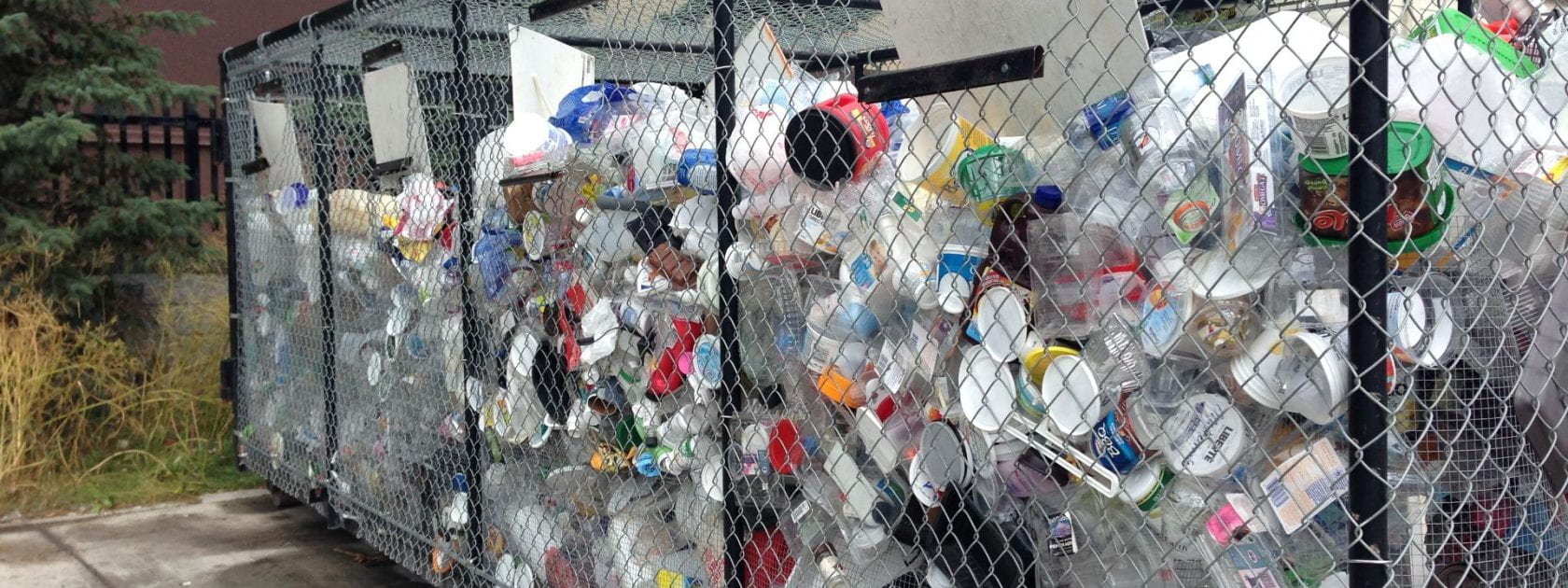Wired trash bins