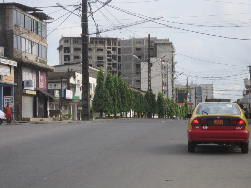 Taxi in Cameroon's second major city Douala.