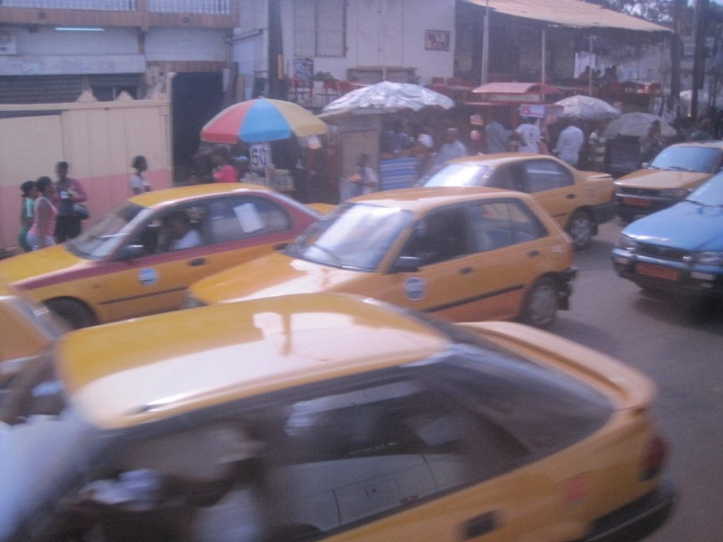 Most Cameroonian taxis are Toyotas because spare parts are easily obtained