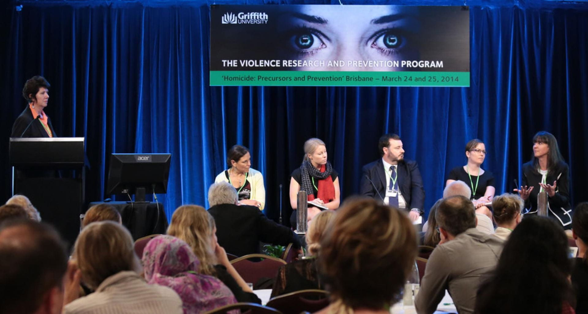 Panel at Australian Homicide Conference at Griffiths University.