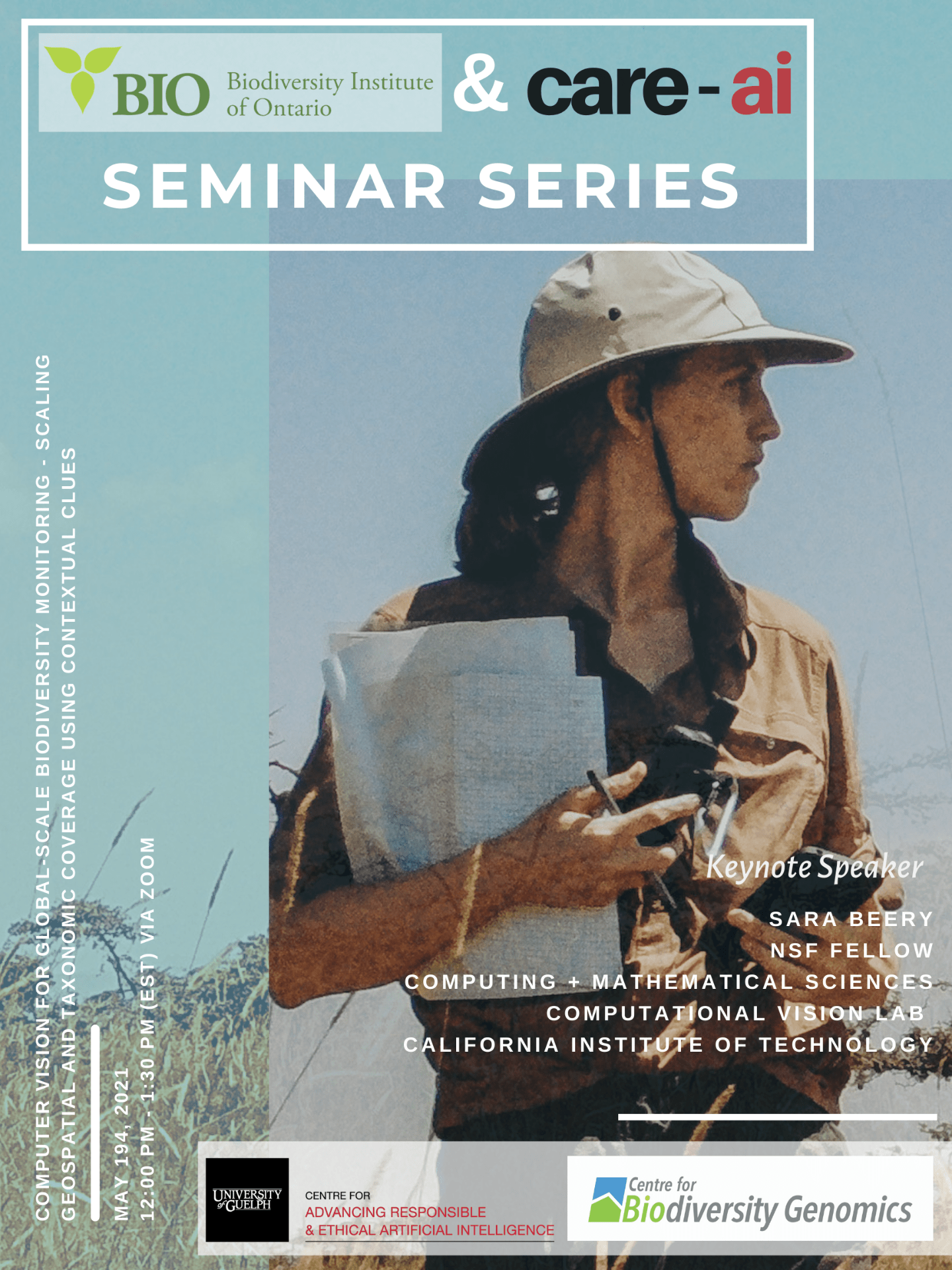 Poster for joint Care-AI and Biodiversity Seminar Series