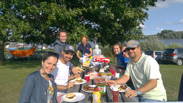 Group BBQ at the Guelph Lake Community Boating Club.