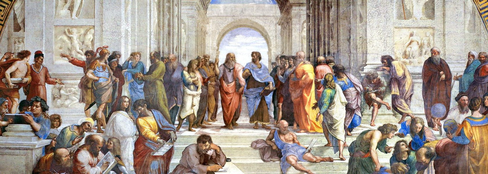 """Painting """"The School of Athens"""" by Raphael (Apostolic Palace, Vatican)"""