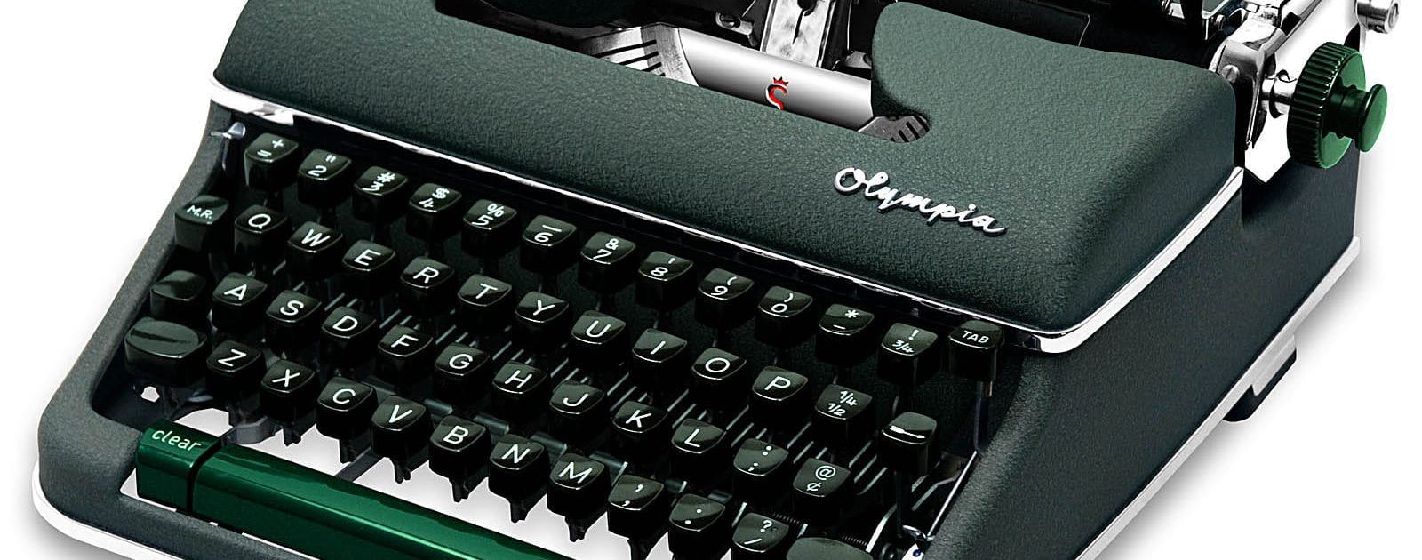 Photograph of a typewriter