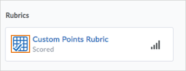 Scored rubric icon