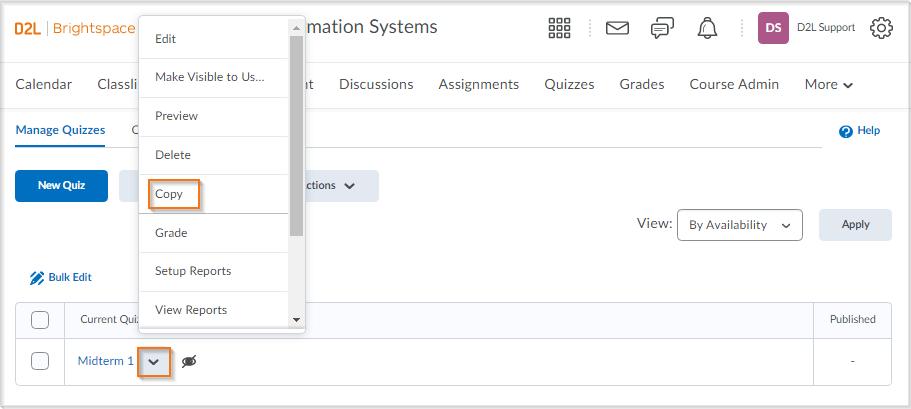 Updated copy quiz workflow
